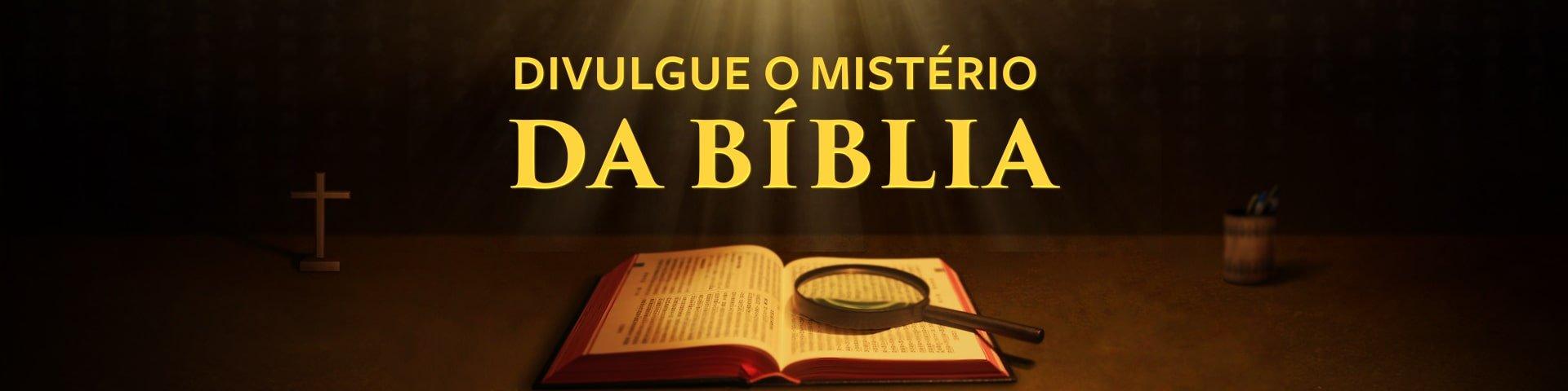 Cartaz - Divulgue o mistério da Bíblia