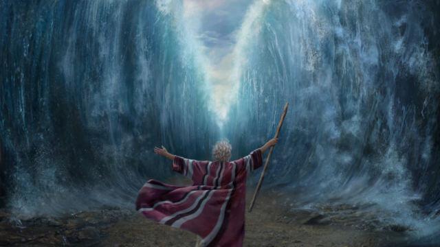 Moisés separou o mar