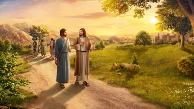 Pedro faz perguntas a Jesus