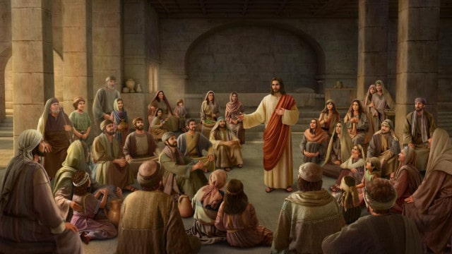 Jesus Cristo pregando na igreja