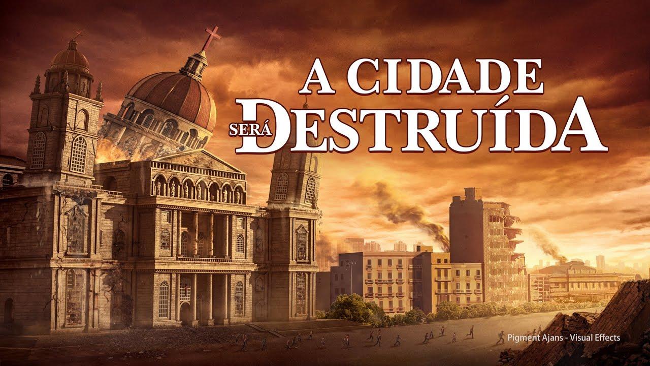 Cartaz do filme gospel - A cidade será destruída