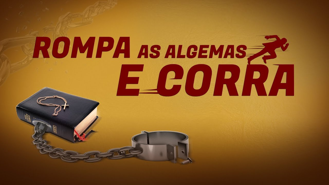 Cartaz do filme gospel - Rompa as algemas e corra
