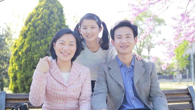Fotos felizes de pais e filha