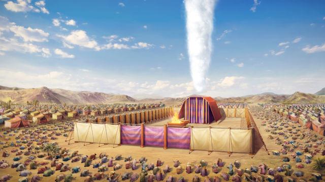 Jeová usava uma coluna de nuvem para orientar os israelitas