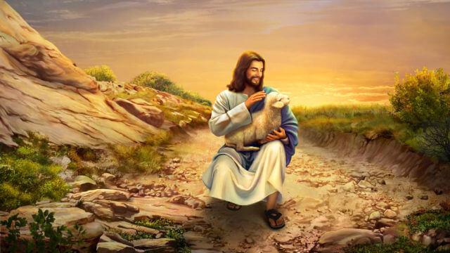 Jesus Cristo com cordeiro