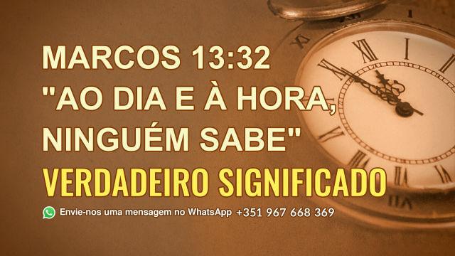Estudo de Marcos 13:32