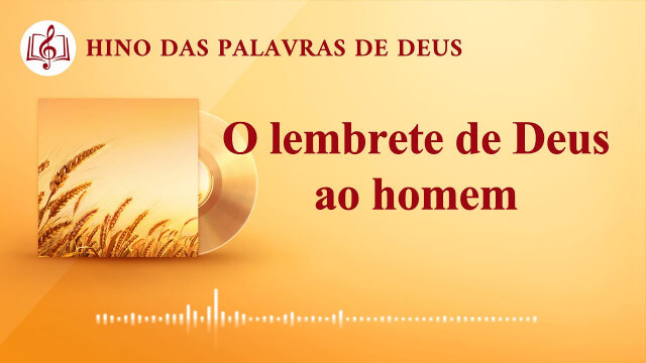 """Música gospel 2020 """"O lembrete de Deus ao homem"""""""
