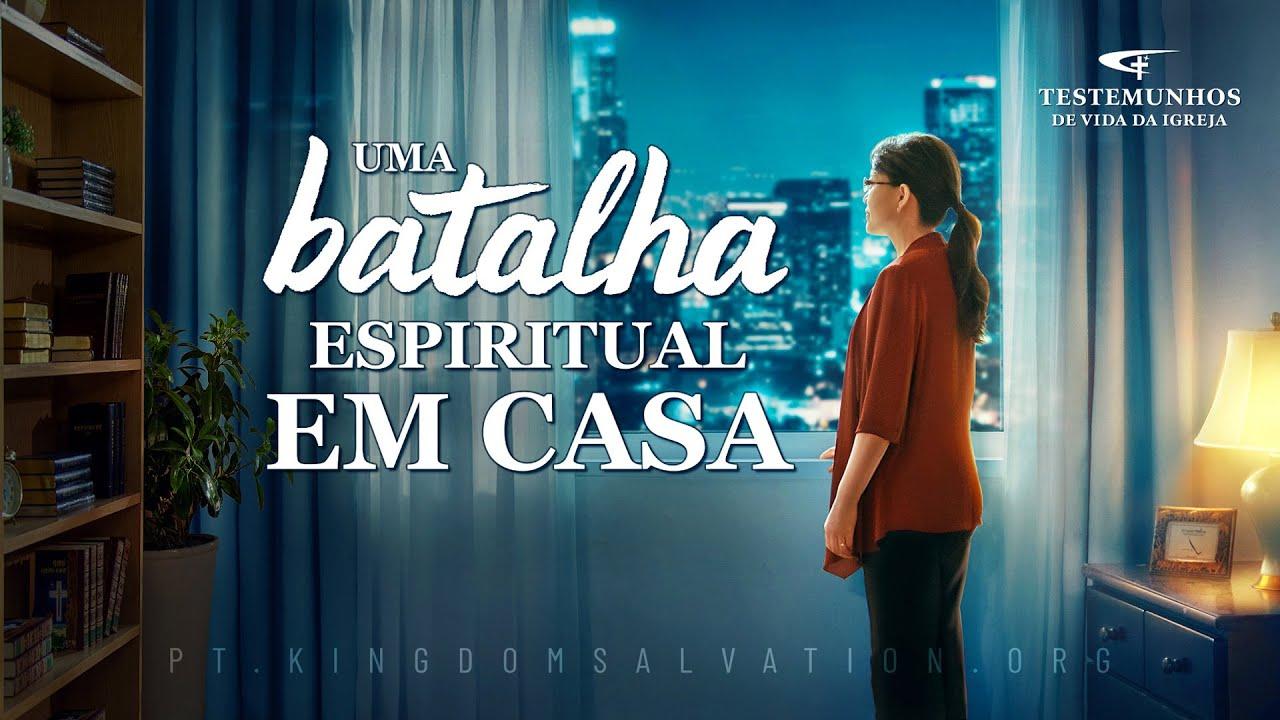 """Testemunho de fé """"Uma batalha espiritual em casa"""""""