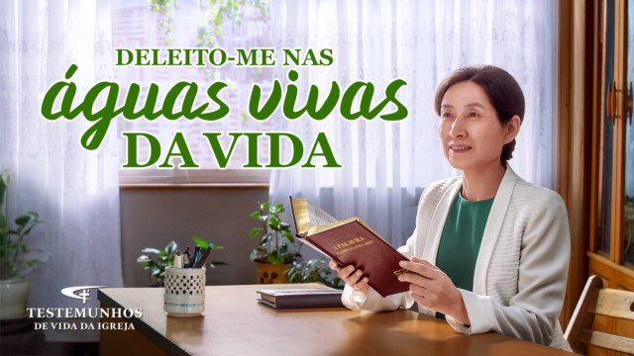 """Testemunho de fé """"Deleito-me nas águas vivas da vida"""""""